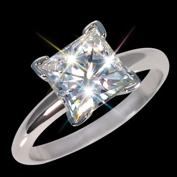 6 00 mm 1 25 carat certified moissanite princess cut solitaire ring 3